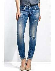 Salsa - Jeans Shape Up jambe slim avec petites déchirures - Femme
