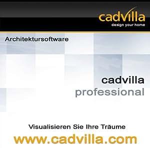 cadvilla professional, Architektur 2D/3D CAD Software / Programm - nutzbar als Hausplaner, Einrichtungsplaner, Raumplaner, Badplaner, Küchenplaner (DVD-ROM)