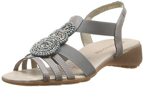 Remonte - R5250 40, sandali  da donna grigio(Grey (White Dust/Staub))