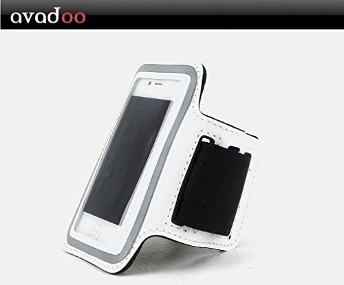 Avadoo iPhone ® sportive, la course et fitnessarmband blanc