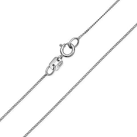 Bling Jewelry 14K or blanc fine chaîne italienne 018 Gauge 18in