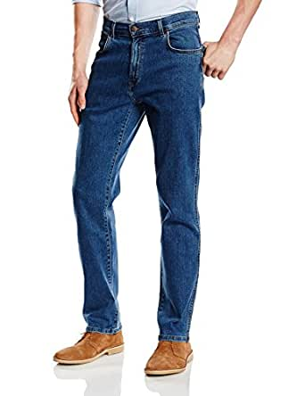 Wrangler Men's Texas Stretch Straight Jeans, Blue (Resistant Stone), W30/L30