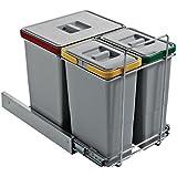 Cubo extraíble para mueble de cocina con 3 secos (18 8 Ecolfil 134B1 8 L)