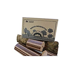 Normandy Beech Briquettes -12KG Stove & Pizza Oven Firewood, Very Hot & Long Burning Compressed Logs. 100% Natural Beech - Eco Friendly Fuel