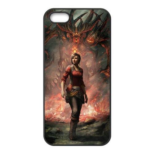 Diablo coque iPhone 5 5S Housse téléphone Noir de couverture de cas coque EBDXJKNBO09360