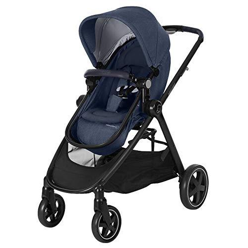 Bébé Confort Zelia Passeggino Leggero Reclinabile, Chiusura Compatta, Reversibile Fronte Strada/Fronte Mamma, Coprigambe Incluso, Nomad Blue