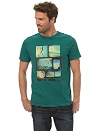 Animal Herren Kurzarm Shirt Livemore/S14 Grün (Teal Green), X-Large (Herstellergröße: X-Large)
