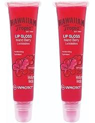 Hawaiian Tropic Lip Gloss Island Berry LSF 25, 2er Pack (2 x 20 ml)