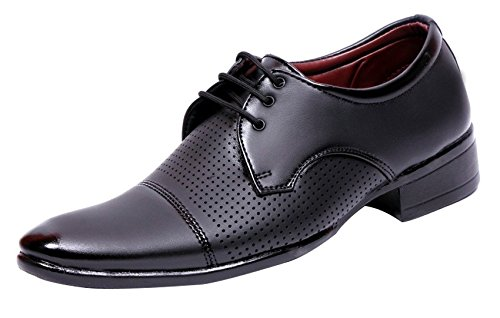 Anshul Fashion men's black synthetic formal shoes-6 (PNI-2001-Black_6)