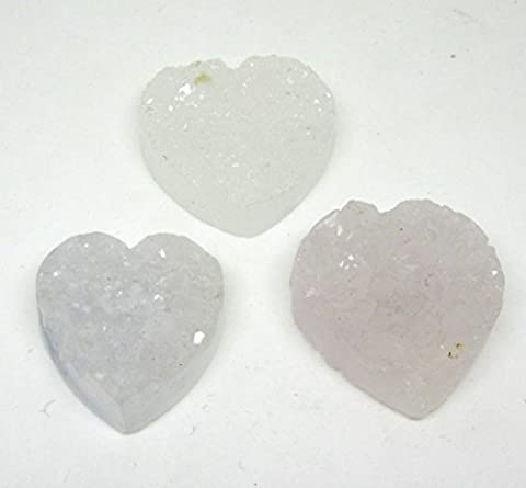 Crystal Heart Shaped Liner with 30 x 30 mm with Bore in White