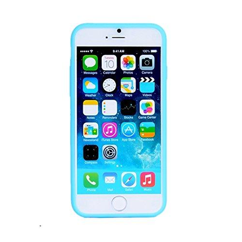 Phone case & Hülle Für IPhone 6 / 6S, Baustein-Beschaffenheit Silikon-Kasten ( Color : Green ) Blue