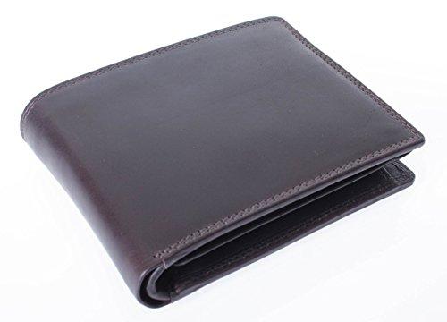 Esclusivo portafoglio uomo donna Classico da borsa in formato orizzontale con aletta Portafoglio Pelle Bovina Pieno–alta qualita in pelle con cartone... nero marrone scuro marrone scuro