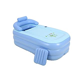 MBJZ Adult bath tub plastic bucket folding inflatable bath bucket, blue,160*84*64cm