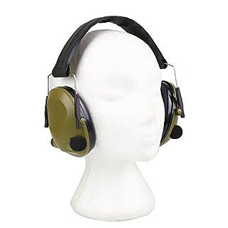 hongfei Elektronische taktische Ohrenschützer für Schützen Gehörschutz Sicherheit, Falten gepolsterte Anti-Lärm-Ohrschalen für die Jagd, Schießübungen, Flughafen-Arbeit, Auto-Shop