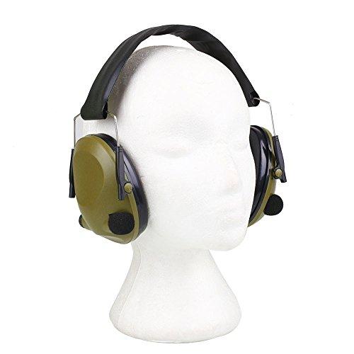 Protège-oreilles tactiques électroniques pour les tireurs Sécurité de la protection de l'ouïe, pliage Tasses anti-bruit rembourré anti-bruit pour la chasse, pratique cible, travail à l'aéroport, Auto