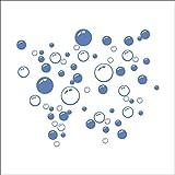 Joystore Abnehmbare Art Vinyl Zitat DIY Wall Sticker Aufkleber Wandbild Dekoration Zimmer Blase blau