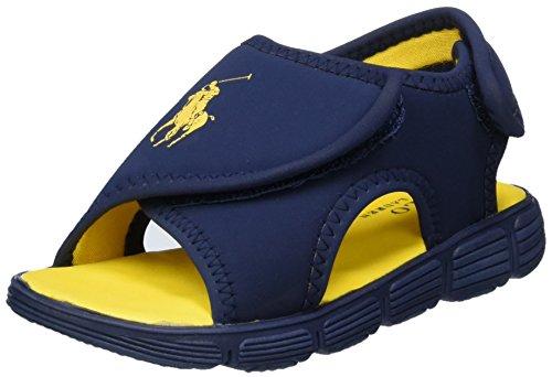 Ralph Lauren Banks, Sandales  Bout ouvert garçon Blau (Navy SPORTBUCK/ Yellow)