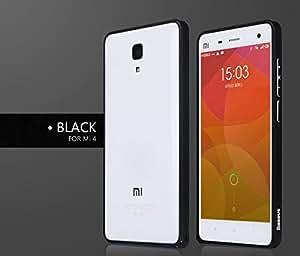BASEUS Beauty Arc Metal Bumper Aluminium Frame Case Cover For Xiaomi Mi4 - Black