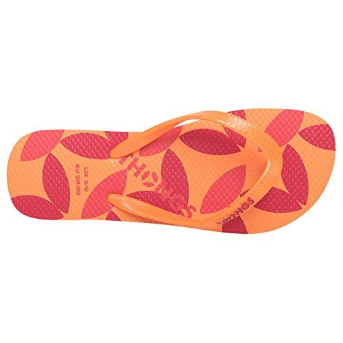 Nuova forma-Sandali a infradito da donna (Orange Print Design)