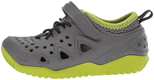 crocs Unisex's Swiftwater Play Shoe K Grey Sneakers-6 Kids UK (C6) (204989-0DA)