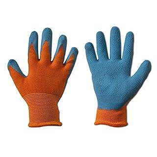 Kinder Arbeitshandschuhe Latex Schutzhandschuhe Gartenhandschuhe Handschuhe Kinderhandschuhe orange Gr. 2-6 6