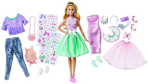 Barbie fashion activity gifset with clothes (mattel dvj64)