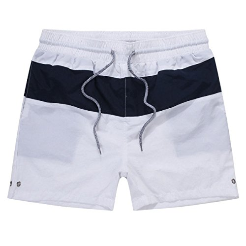 2 Pack Hommes Quick Dry Plage De Sable Loisirs Rayures Sports Natation Tronc Tailles Et Couleurs Assorties I