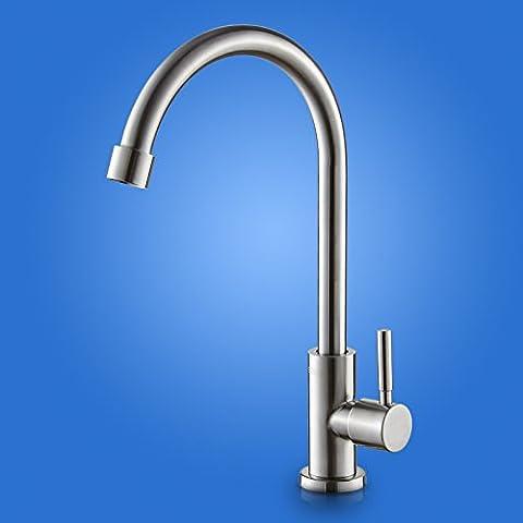 Haga clic en el grifo de la cocina de agua fría Mezclador lavabo ARC 304 acero inoxidable cromado ,