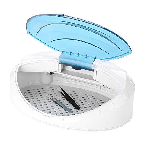 UV Nagel Maniküre Sterilisator, UV-Desinfektionsmittel Heizung Handtuch Schere Desinfektion Kabinett Box Cleaner Ausrüstung für Massage Spa Gesichts Schönheit Tätowierung Werkzeug(EU-Stecker) (Werkzeug-kabinett-zubehör)