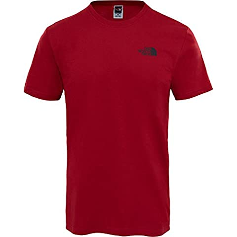 The North Face Homme Red Box Logo T-Shirt, Rouge, Large