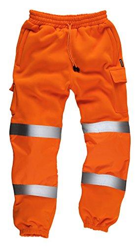 StandSafe HV021, hochsichtbare Jogginghose, Größe 2XL - Orange - Elastische Taille Bestickte Jogginghose