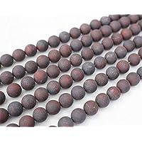 7b75724a1903 piedra jaspe rojo - Surtidos de abalorios   Fabricación de ... - Amazon.es