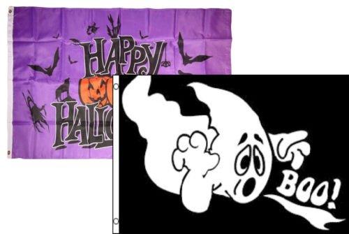 Moon Messer 3x 5Happy Halloween 2Pack Flagge Machen Set Combo # 28Tüllen 3x 5Banner-Party Dekorationen Supplies für Paraden-Prime Außen, Garten, Herren Höhle Decor Flagge