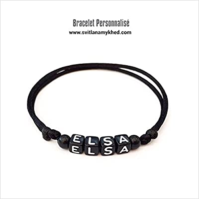 Bracelet ELSA personnalisé avec prénom (réversible) homme, femme, enfant, bébé, nouveau,né.