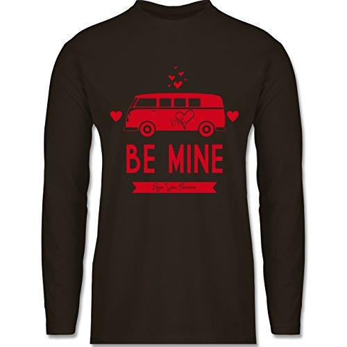 Shirtracer Statement Shirts - Love Me Mine Bus T1 - Herren Langarmshirt Braun