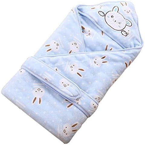 Recién nacido bebé algodón cómodo saco de dormir caliente invierno primavera franela encantador abrazo traje manta de manta