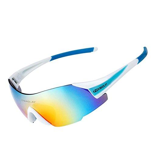 Dragon868 Sonnenbrille Damen Herren Draußen Reiten Brille UV-Nachweis Hohe Flexibilität Sonnenbrillen (F) (135 Black Brille)