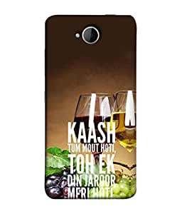 PrintVisa Designer Back Case Cover for Lumia 650 (emotional saddy love hindi quotes)