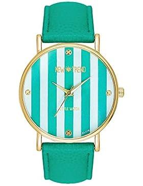 Damenuhr Streifen Mintfarben Streifenmuster Anker Gold Mint Armbanduhr Blogger Uhr Trend Rosen Günstig Designer