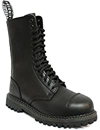 9 Zoll schwarze taktische lederne Militärkampf Stiefel mit