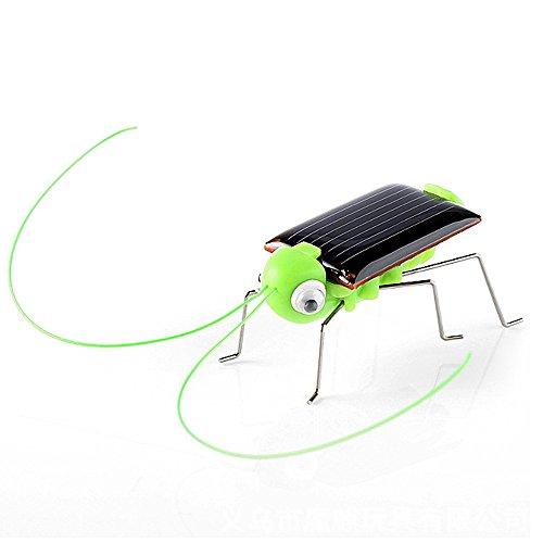 Oksea Solar betriebenes Spielzeug Solarbetriebener Grashüpfer Solarmodell Solar Bausatz Pädagogisches solarbetriebenes Heuschrecke Roboter-Spielzeug Solarbetriebenes Spielzeug Gadget (Grün)