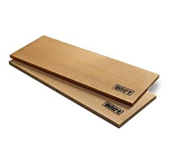 Weber Western Red Cedar Wood Planks, 30x15x1 cm