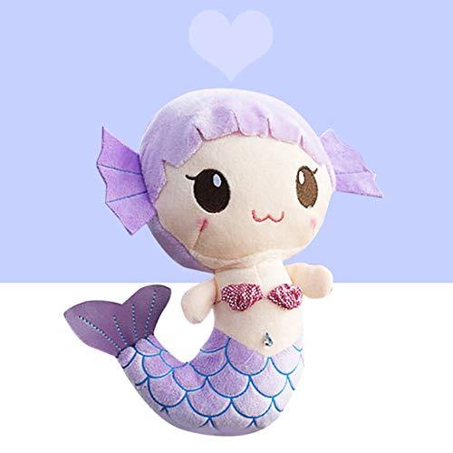 Comomingo Plüschtiere Geschenk Für Kinder Nette Reizende Plüsch Prinzessin PP Baumwollspielzeug Für Baby Kinder Mädchen Die Kleine Meerjungfrau Gefüllte Puppe
