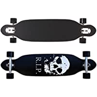 Racing Longboard 38 INCH with skull New & Sealed ABEC-7 bearings