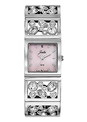 Joalia H633M050 - Orologio da donna con cinturino in acciaio, cassa quadrata, quadrante rosa