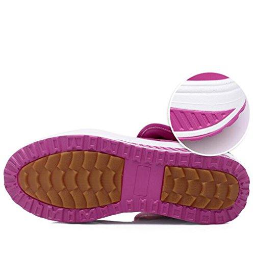 Solshine , chaussures compensées femme rose bonbon