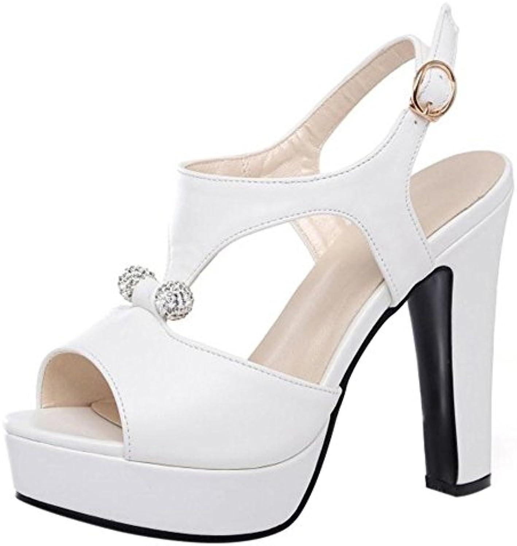RAZAMAZA Toe Femme Mode Peep Toe RAZAMAZA Plateforme Talons Hauts  s ChaussuresB072Q6RF9VParent 036a1d