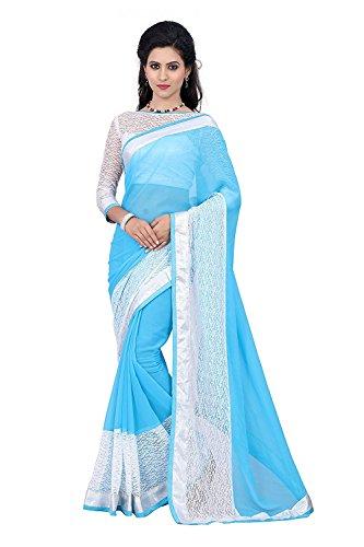 Vatsla Enterprise Net Saree (Rasalsaree_Sky Blue)