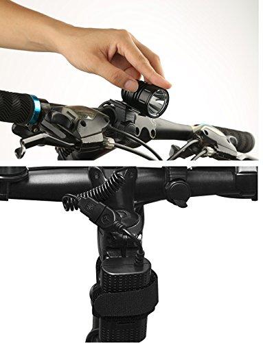 LED Fahrradlicht, USB Wiederaufladbar Taschenlampe Frontlicht Set Super Helle 1200 LM Wasserdichte LED Fahrradbeleuchtung mit Akku-Pack und Rücklicht - 3