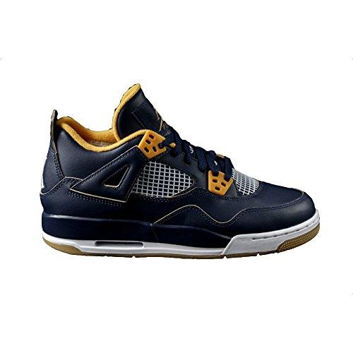 Nike Air Jordan 4 Retro BG LTD Dunk from Above Basketballschuhe Sneaker blau/gold/weiß, Farbe:blau;Schuhgröße:EUR 35.5 (Shop Dunk Sneakers)